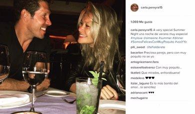 Simeone y Carla Pereyra ya son papás de una niña