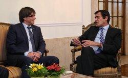 Puigdemont es reuneix amb l'alcalde president de Porto (JORDI BEDMAR PASCUAL/GENERALITAT)