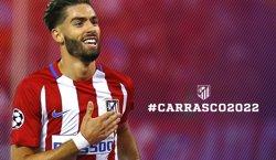 El belga Yannick Carrasco renova amb l'Atlètic fins al juny del 2022 (CLUB ATLÉTICO DE MADRID)