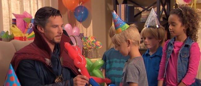 VÍDEO: Doctor Strange (Benedict Cumberbatch) destroza el cumpleaños del hijo de Jimmy Kimmel (ABC)