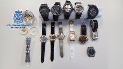 Recuperen 12 rellotges suïssos amagats a Barcelona amb un valor de 850.000 euros (POLICÍA NACIONAL)