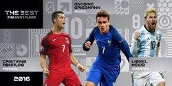 Cristiano, Messi i Griezmann, finalistes al premi 'The Best' al 'Millor Jugador FIFA' (FIFA)