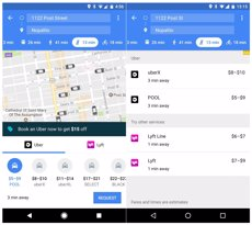 Google Maps ja permet demanar cotxes d'Uber sense sortir de l'aplicació (GOOGLE MAPS)
