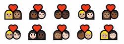 Microsoft crea una línia d'emojis amb parelles interracials (EMOJIPEDIA)