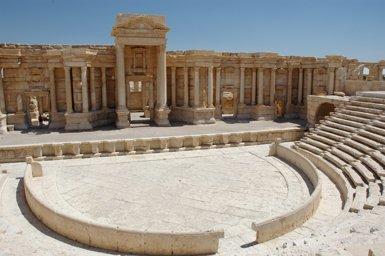 """La Unesco qualifica de """"crim de guerra"""" la destrucció del teatre romà de Palmira (WIKIMEDIA COMMONS)"""