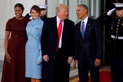 Els Obama reben els Trump a la Casa Blanca (REUTERS)