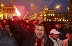 Centenars de persones protesten a Bielorússia contra la
