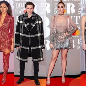 La alfombra roja de los Brit Awards, donde Brooklyn Beckham fue el más elegante