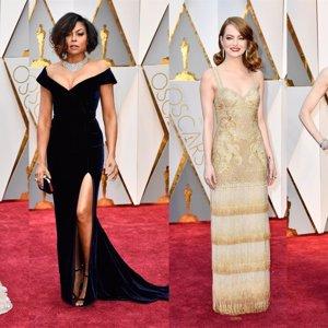 Todos los looks de la alfombra roja de los Oscar 2017: escasea el glamour