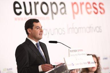 """Juanma Moreno adverteix que a dia d'avui no existeix """"una via a l'andalusa"""" que pugui exportar-se a Espanya (Europa Press)"""