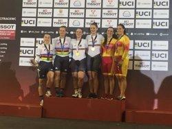 Espanya conquereix la velocitat femenina per equips de la Copa del Món de ciclisme en pista (RFEC)
