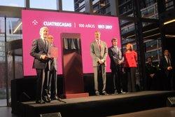 Felip VI commemora el centenari del bufet Cuatrecasas en la seva nova seu (Europa Press)