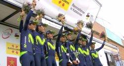 El Movistar perd per sanció en la crono el liderat de Valverde (MOVISTAR TEAM)