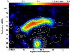 Identificats camps magnètics gegants a l'univers (M. KIERDORF ET AL., A&A 600, A18)