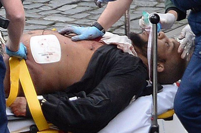 Despliegue policial tras el ataque junto al Parlamento en Londres