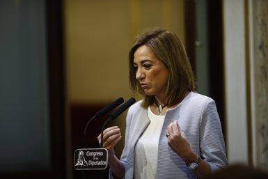 Esplugues de Llobregat nomena Carme Chacón com a filla predilecta de la ciutat (EUROPA PRESS)