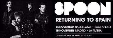 Spoon anuncia concerts al novembre a Barcelona i Madrid (SPOON)